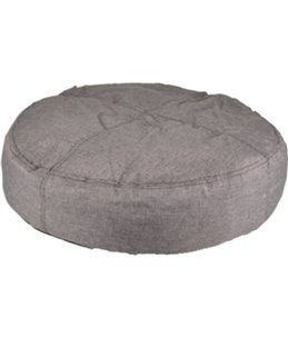 Kussen karpaten rond+rits grijs 90 cm
