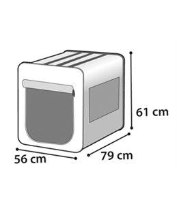 Smart top plus zwart/grijs 79cm