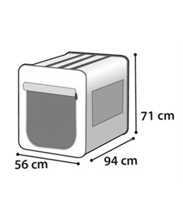 Smart top plus zwart/grijs 94cm