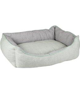 Hondenmand chevron rechthoekig groen/grijs 70x50x25