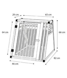 Hondenkooi aluminium 82x65x66cm