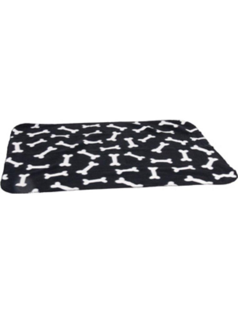 Fleece deken zwart bot 150x130cm