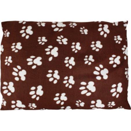 Kussen hoekig paws bruin fleece 97x71x4cm