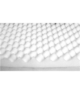 Bed ortho ovaal bruin 72x50x20cm