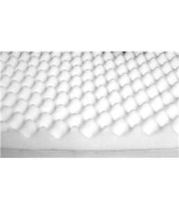 Bed ortho ovaal bruin 120x72x24cm
