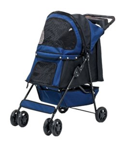 Smart buggy donkerblauw