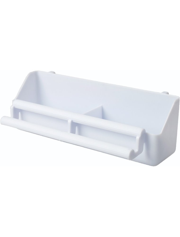 Voliere eetbakje plastic 20cm wit