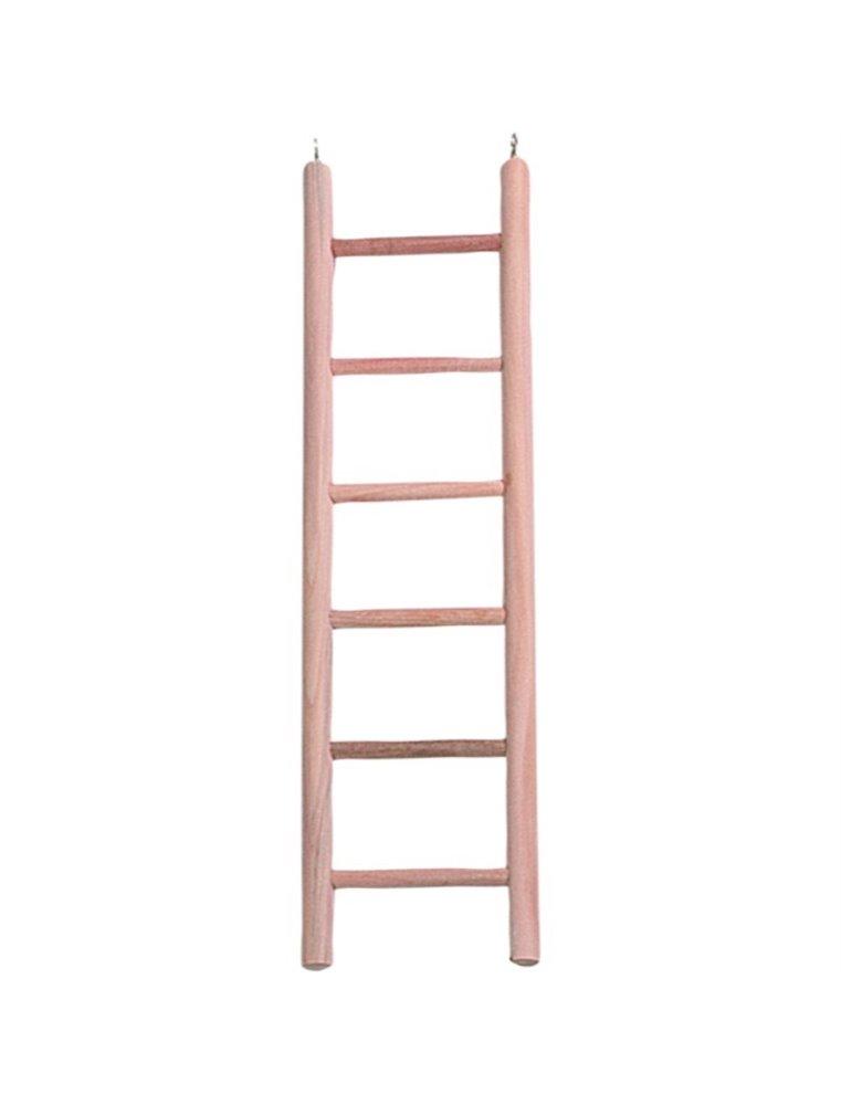 Houten ladder met 6 treden