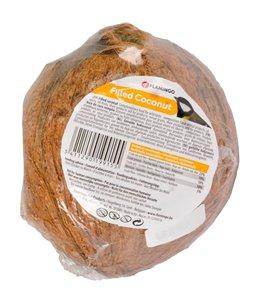 Gevulde kokosnoot met gaten