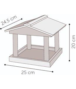 Voederhuis sita 25x24,5x20 cm