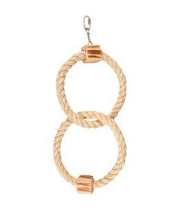 Bbq park speelg touw 2 ringen 18cm
