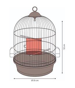 Vogelkooi erla 1 wit 34x34x52cm