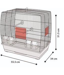 Parkietenkooi selma 2 wit 55,5x34x 51,5cm