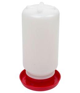 Drinkbak 1 liter met schroefsl. rood