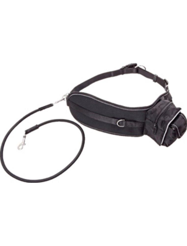Doggy-joggy lijn zwart 65-120cm25mm
