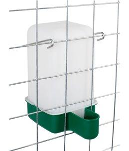 Drinkbak kooimodel,1L groen incl. beugel