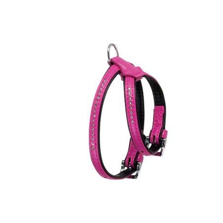 Alp hondentuig monte carlo roze 30-37cm 11mm s-m