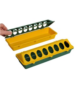 Kuikenvoerbak 30cm kunststof, geel/groen