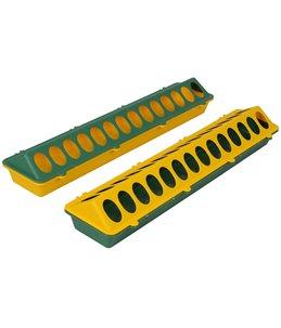 Kuikenvoerbak 50cm kunststof, geel/groen