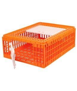 Transportkist pluimvee oranje 2 deurs