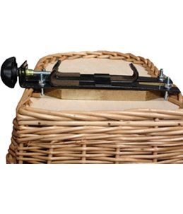 Fietsmand riet + klem bagagedrager