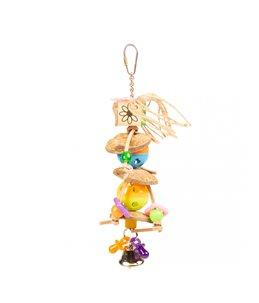 Kleurrijk speeltje met cocos en belletjes