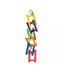 Colorful Wooden Bird Ladder
