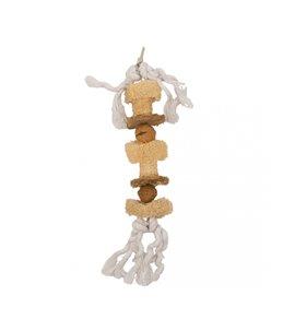 Stick with Cotton Rope, Walnut & Luffa