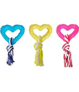 Tpr hart met touw 8cm assortiment
