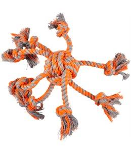 Hs katoen james octopus oranje knoopbal dia. 8cm/30cm