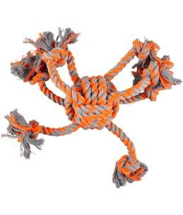 Hs katoen james octopus oranje knoopbal dia. 10cm/40cm