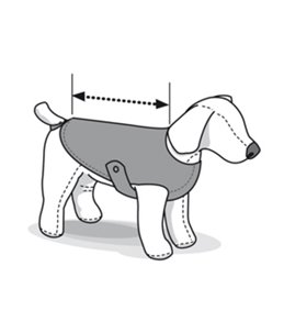 Honden-regenjas classic 46cm