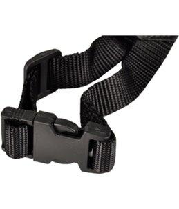 Muilband nylon s 17cm 43-64cm zwart