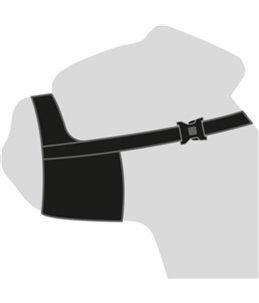 Muilband nylon spec 32cm 51-71cm zwart