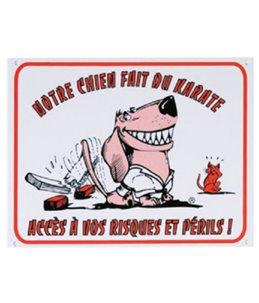Waakbord fr - chien karate