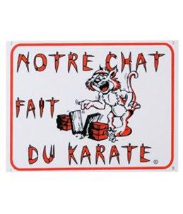 Waakbord fr - chat karate