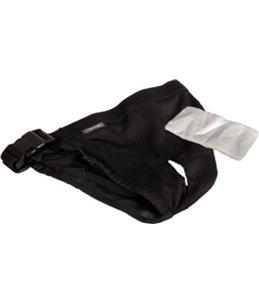 Hondenslip plastic gesp xs zwart