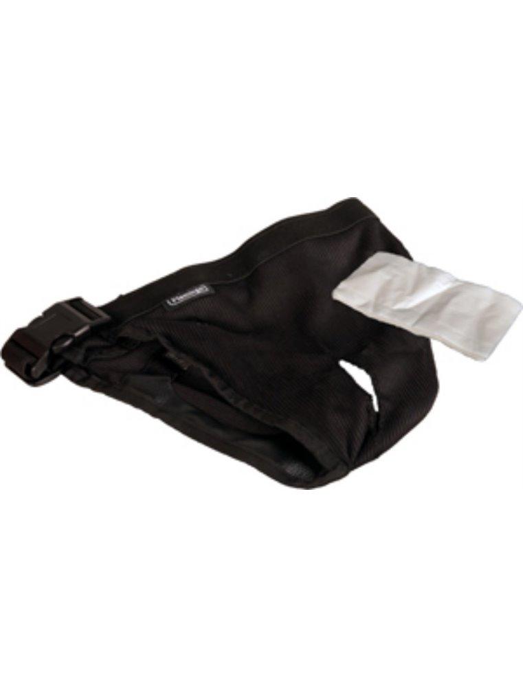 Hondenslip plastic gesp s zwart