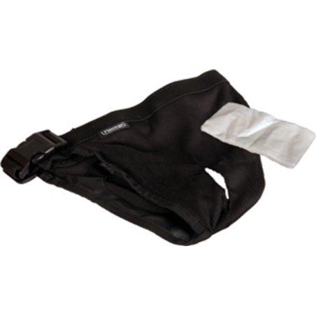 Hondenslip plastic gesp xl zwart