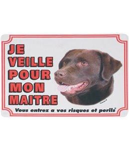 Waakbord fr - labrador brun