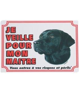 Waakbord fr - labrador noir