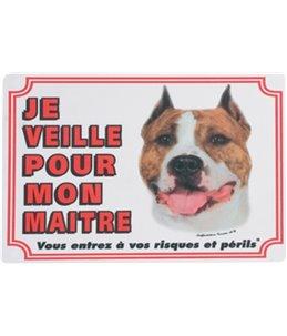 Waakbord fr - staffordshire terrier