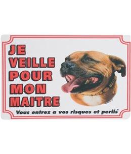 Waakbord fr - staff. bull terrier