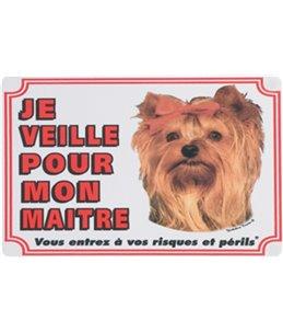 Waakbord fr - yorkshire terrier